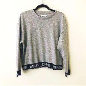 VICTORIA SPORT Gray Spellout Sweatshirt